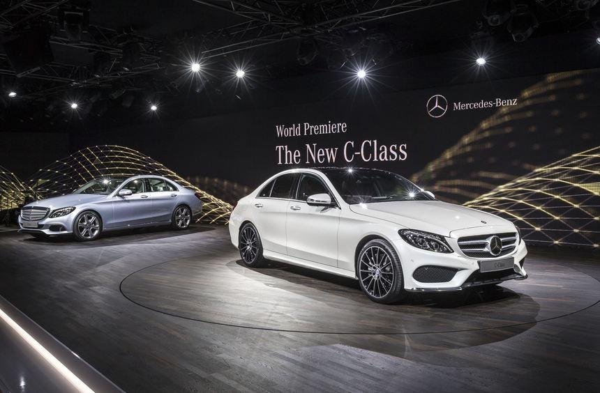Die in allen Bereichen gewachsene neue Mercedes C-Klasse feiert auf der North American ...