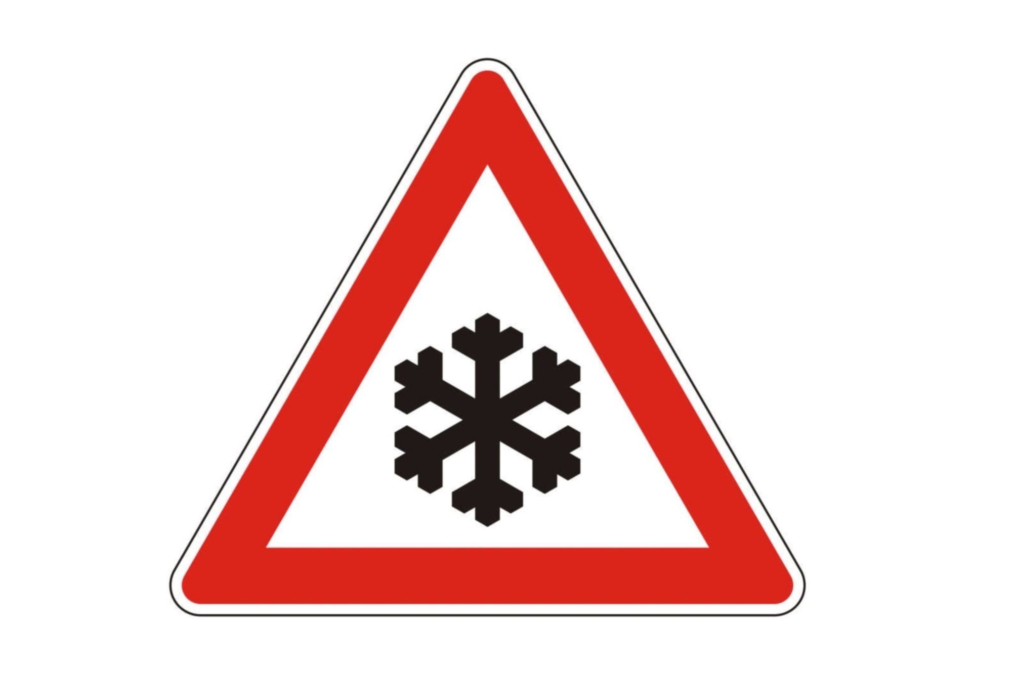Recht: Eingeschränktes Tempolimit - Schneeflocken-Schild gilt auch wenn es nicht schneit