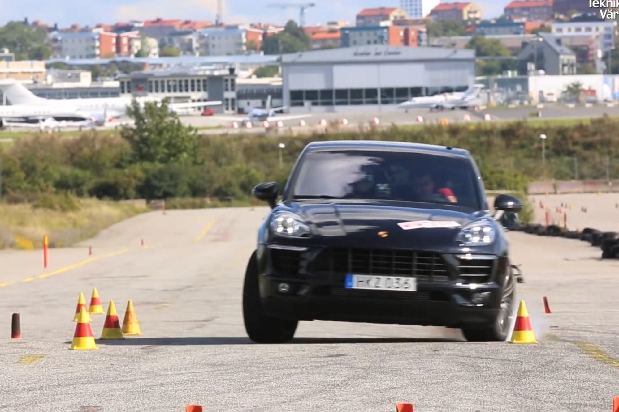Porsche Macan im Elchtest - Nichts passiert und doch Aufruhr