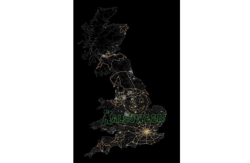 Das größte GPS-Gemälde der Welt ist in Großbritannien entstanden