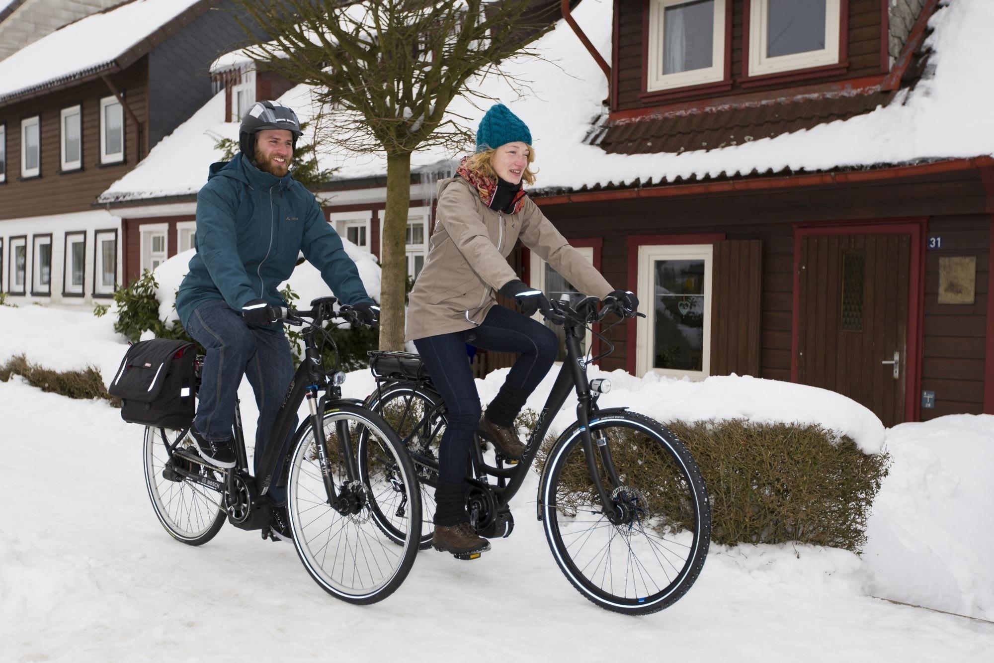 Radfahren im Winter - Auf die Ausrüstung kommt es an
