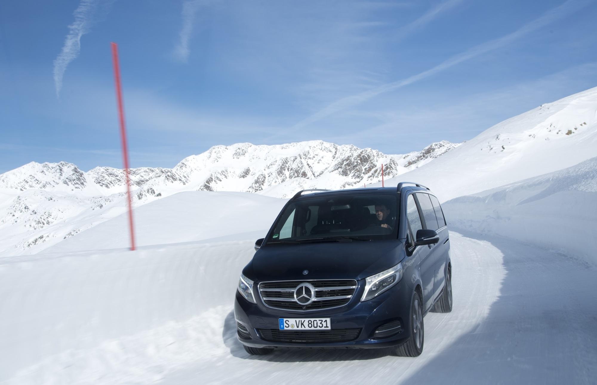 Mercedes V-Klasse jetzt auch mit Allradantrieb - Nobel auf allen Vieren