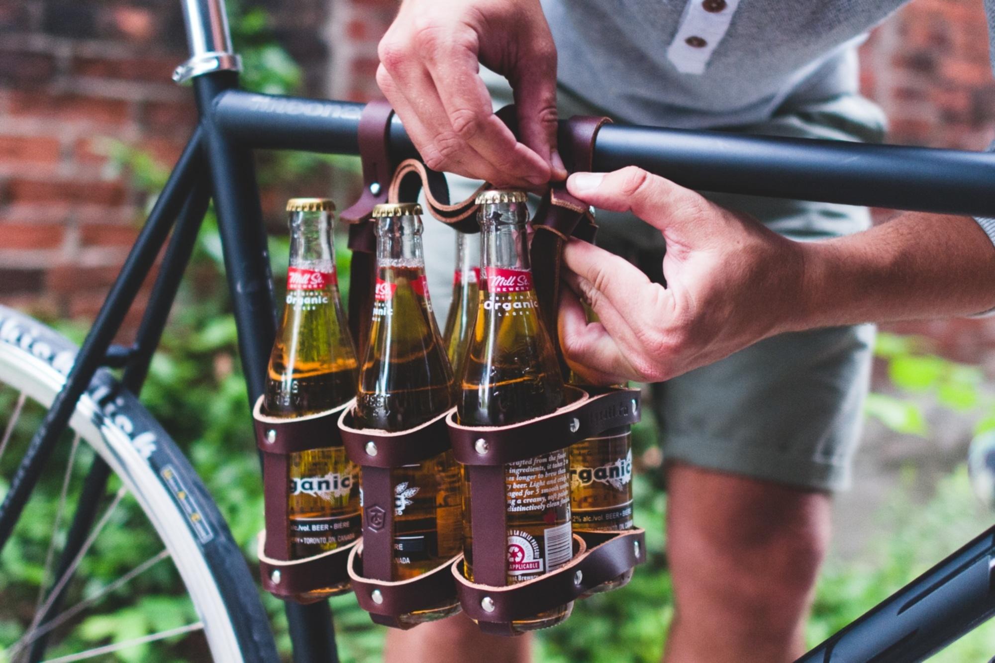 Sixpack-Halterung fürs das Fahrrad - Gut gerüstet