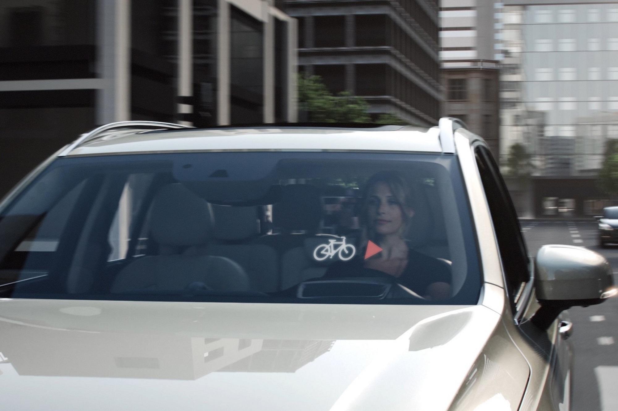 Intelligenter Fahrradhelm - Warnung vor dem Crash