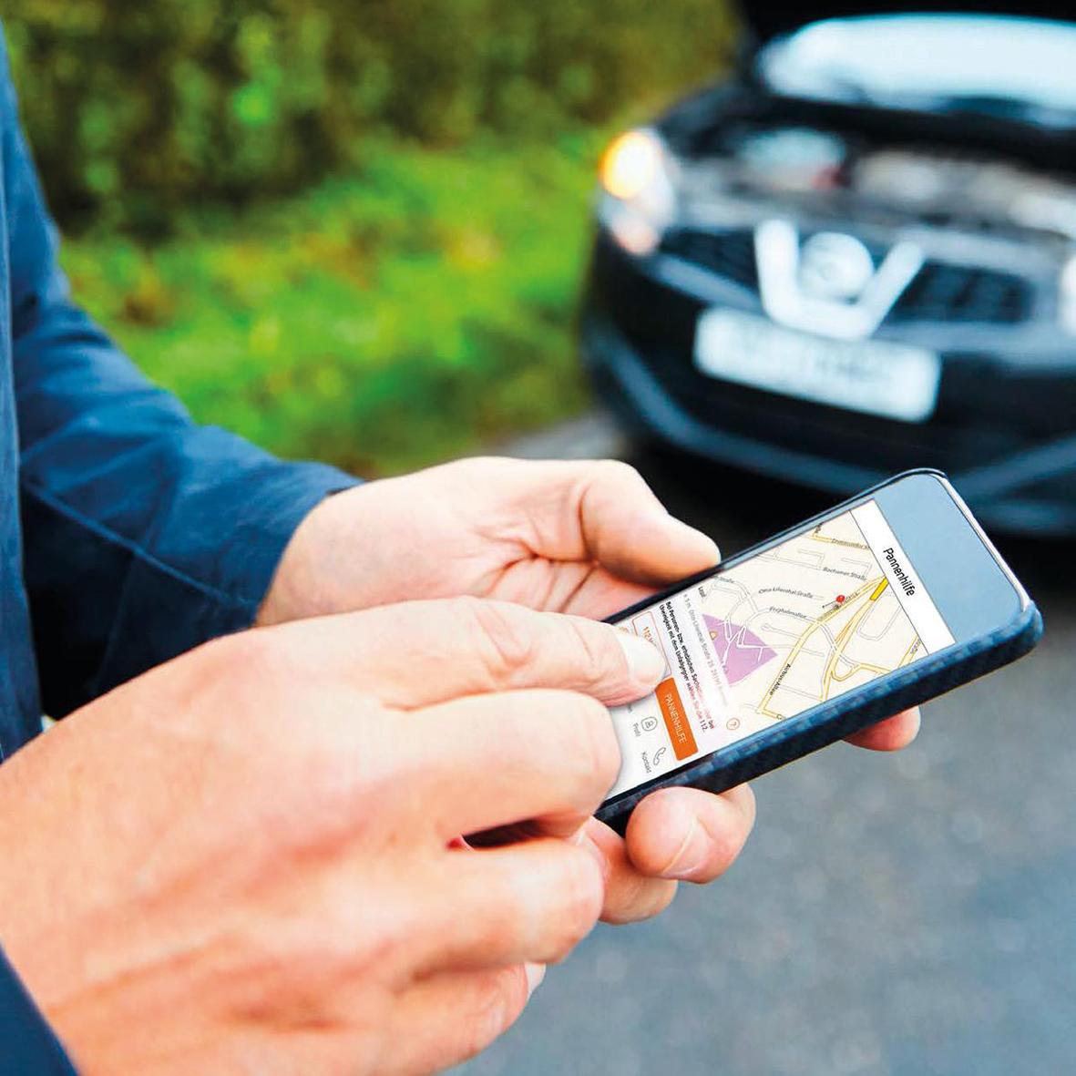 """mid Düsseldorf - Bei einer Panne oder einem Unfall bietet die neue Smartphone-App """"ACV-Co-Pilot"""" des Automobil-Clubs Verkehr schnelle Hilfe."""