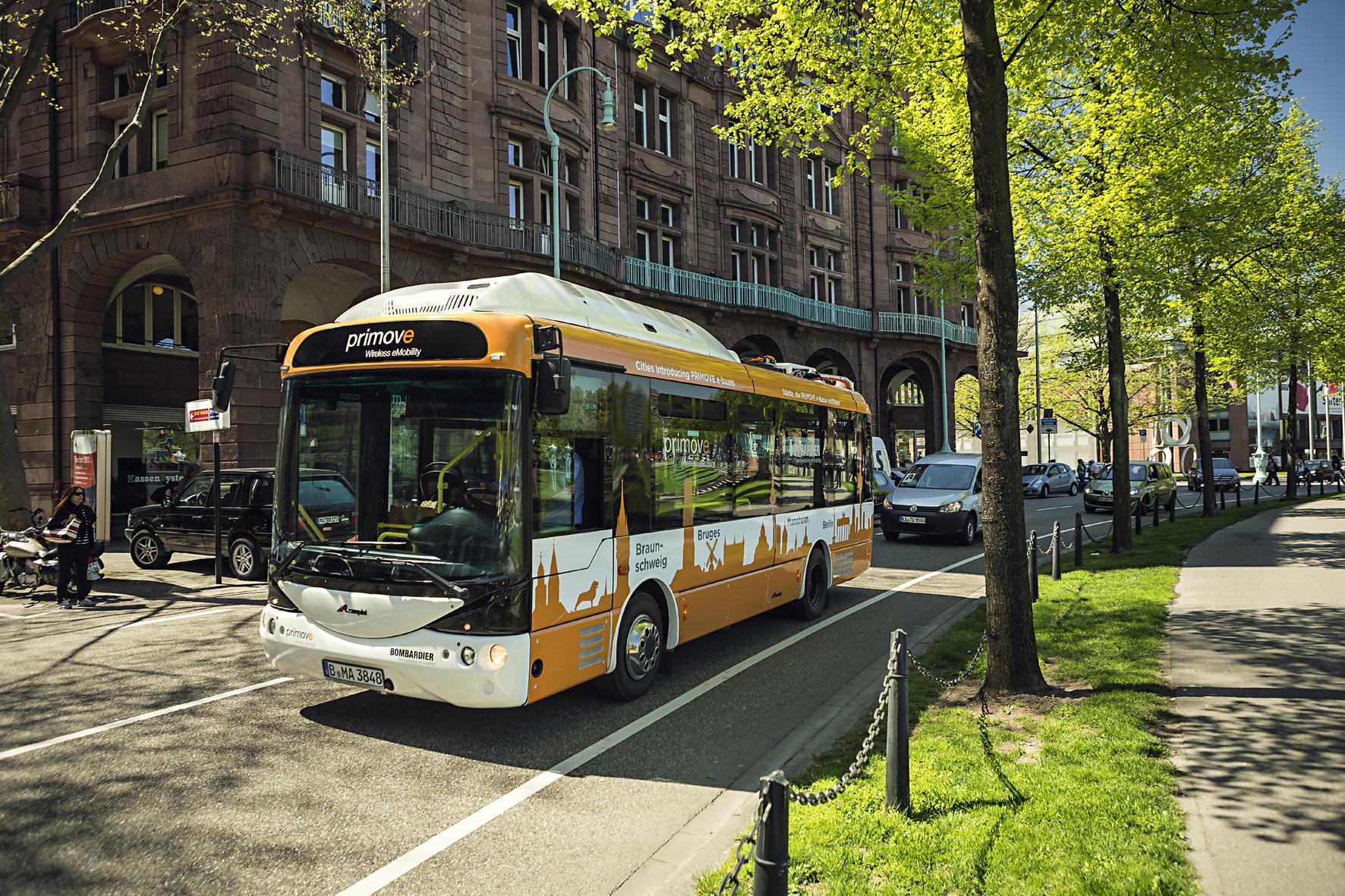 """mid Düsseldorf - In Mannheim sind jetzt im Rahmen des Projekts """"PRIMOVE"""" rein elektrisch angetriebene Busse unterwegs."""