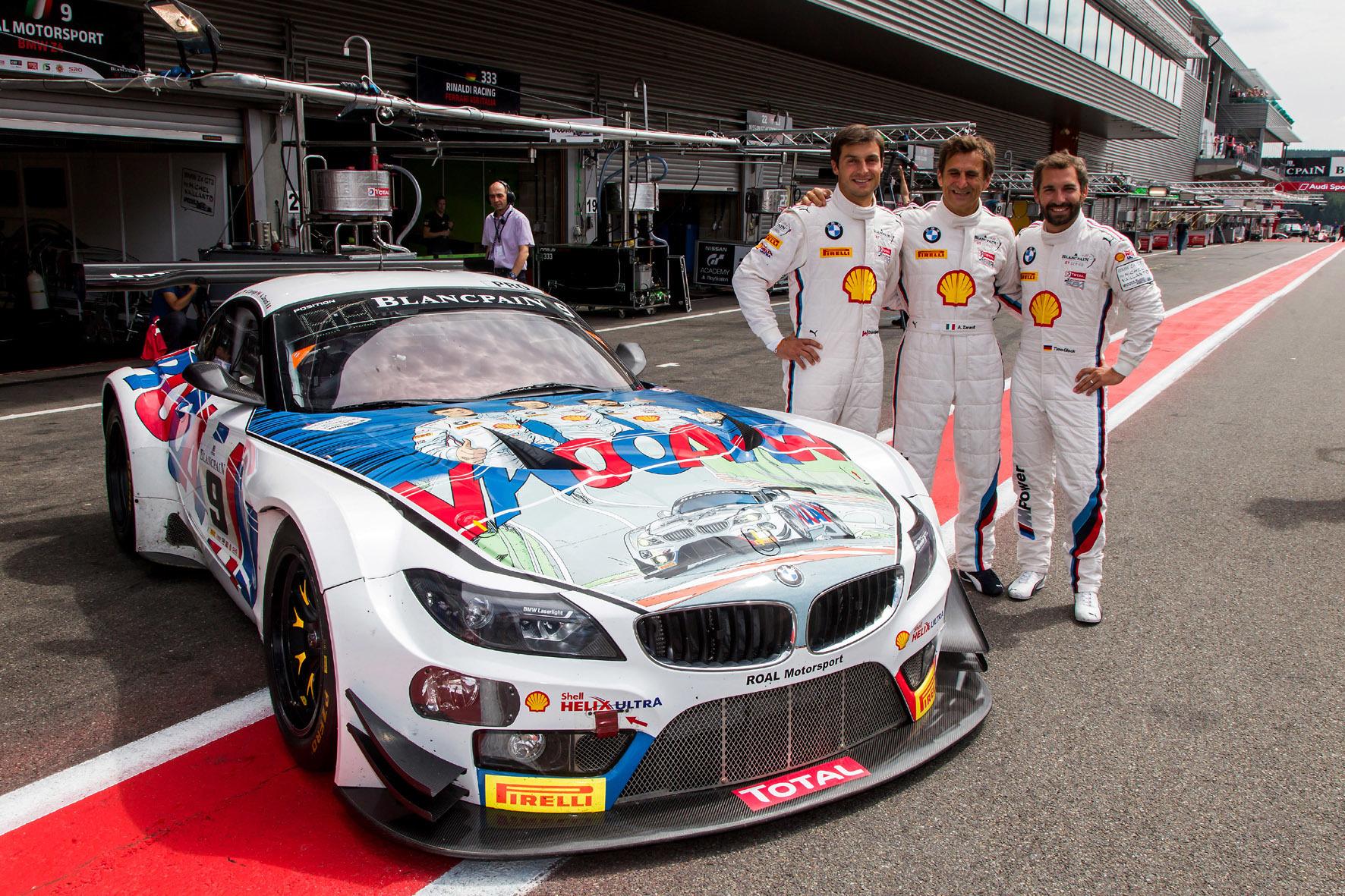 mid Düsseldorf - Konkurrentfähig, aber mit einem Motorschaden letztlich glücklos: das Fahrer-Trio Alessandro Zanardi, Timo Glock und Bruno Spengler vor dem 24-Stunden-Rennen im belgischen Spa.