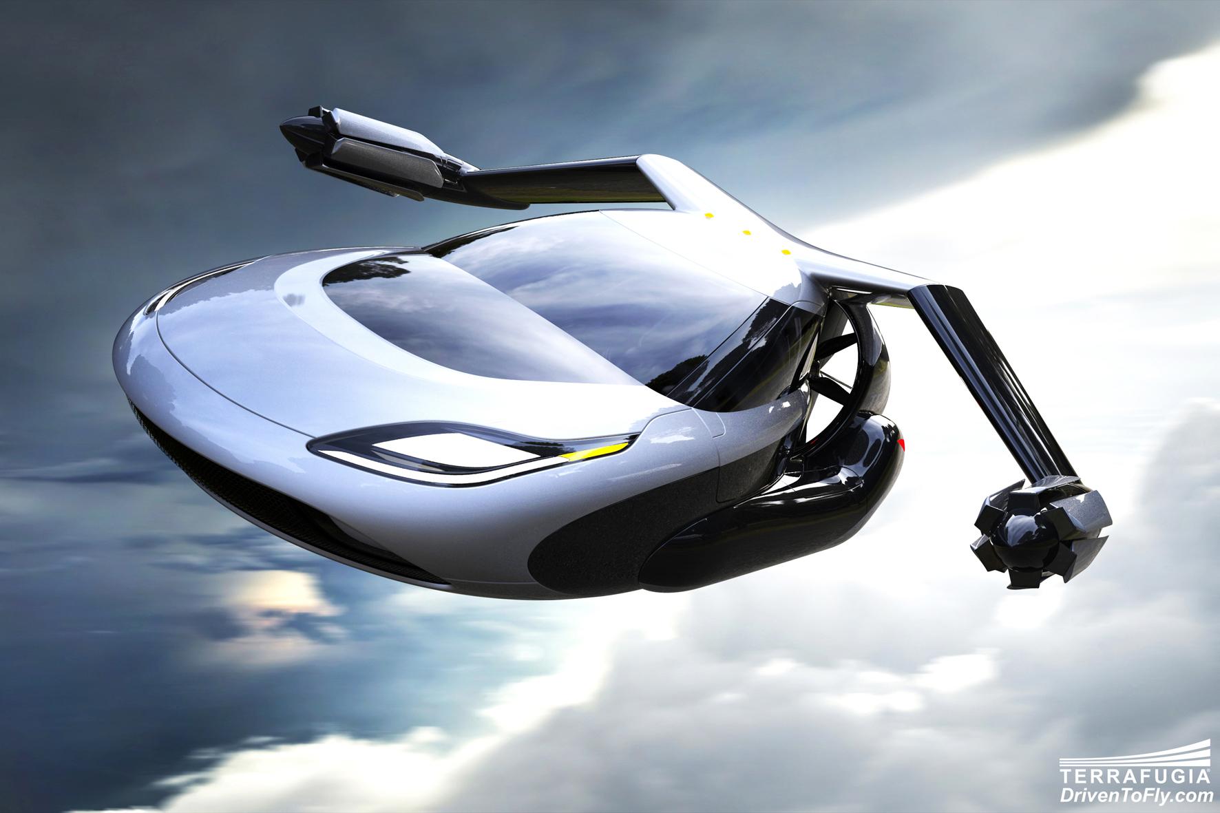 mid Düsseldorf - Halb Auto, halb Flugzeug: Mit dem Terrafugia TF-X könnte ein lang gehegter Traum von Science-Fiction-Fans wahr werden. Im Flugbetrieb soll das Zwitter-Fahrzeug mit Hybrid-Antrieb und 800 Kilometern Reichweite 320 km/h schnell sein.