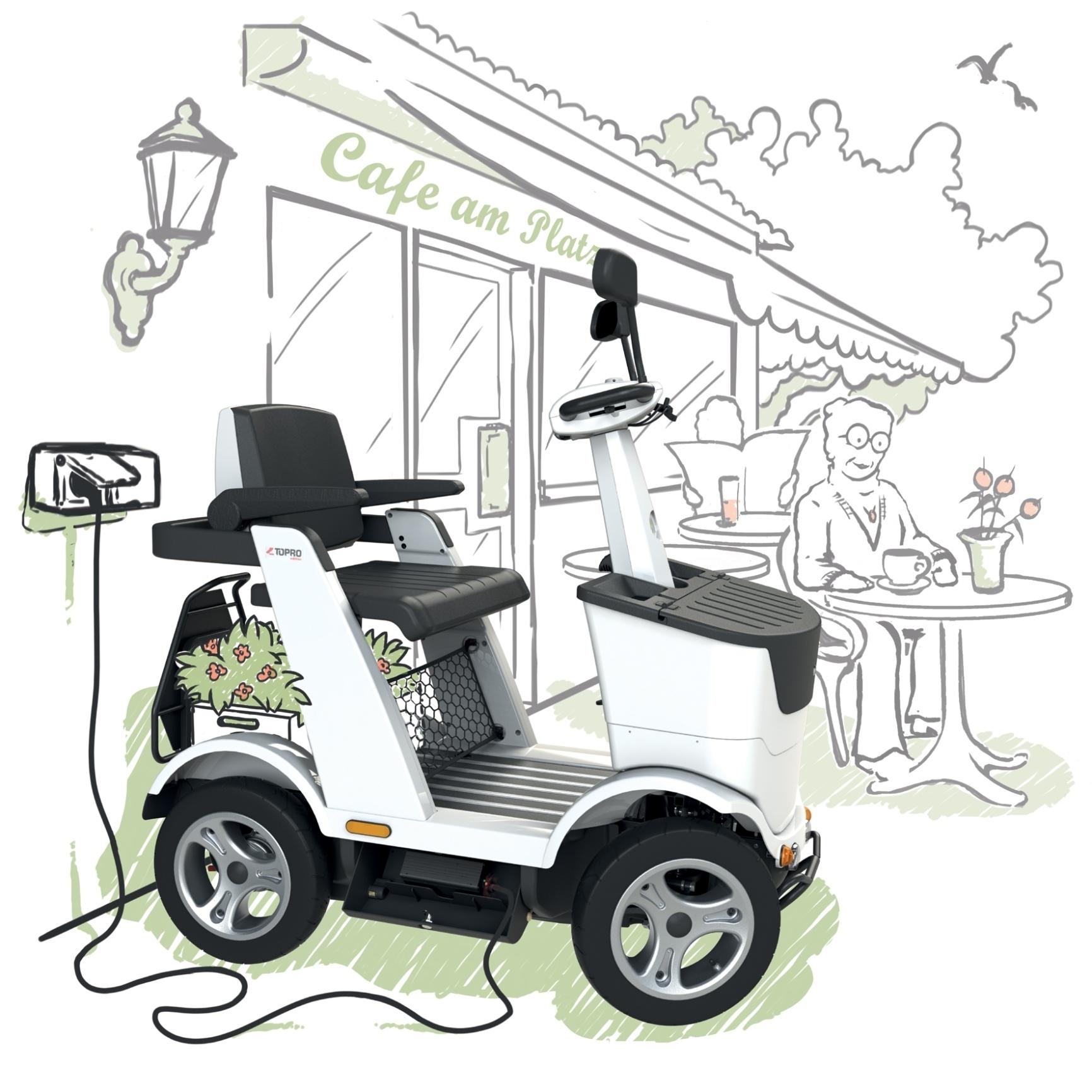 """mid Düsseldorf - Das """"Minnie-Mobil"""" mit Elektroantrieb ermöglicht Menschen mit einer Gehbehinderung, im Alltag mobil zu bleiben."""
