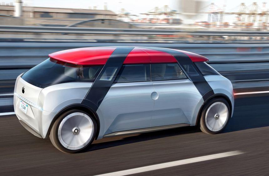 mid Düsseldorf - Der Fantasie freien Lauf gelassen: So könnte das iCar von Apple aussehen.