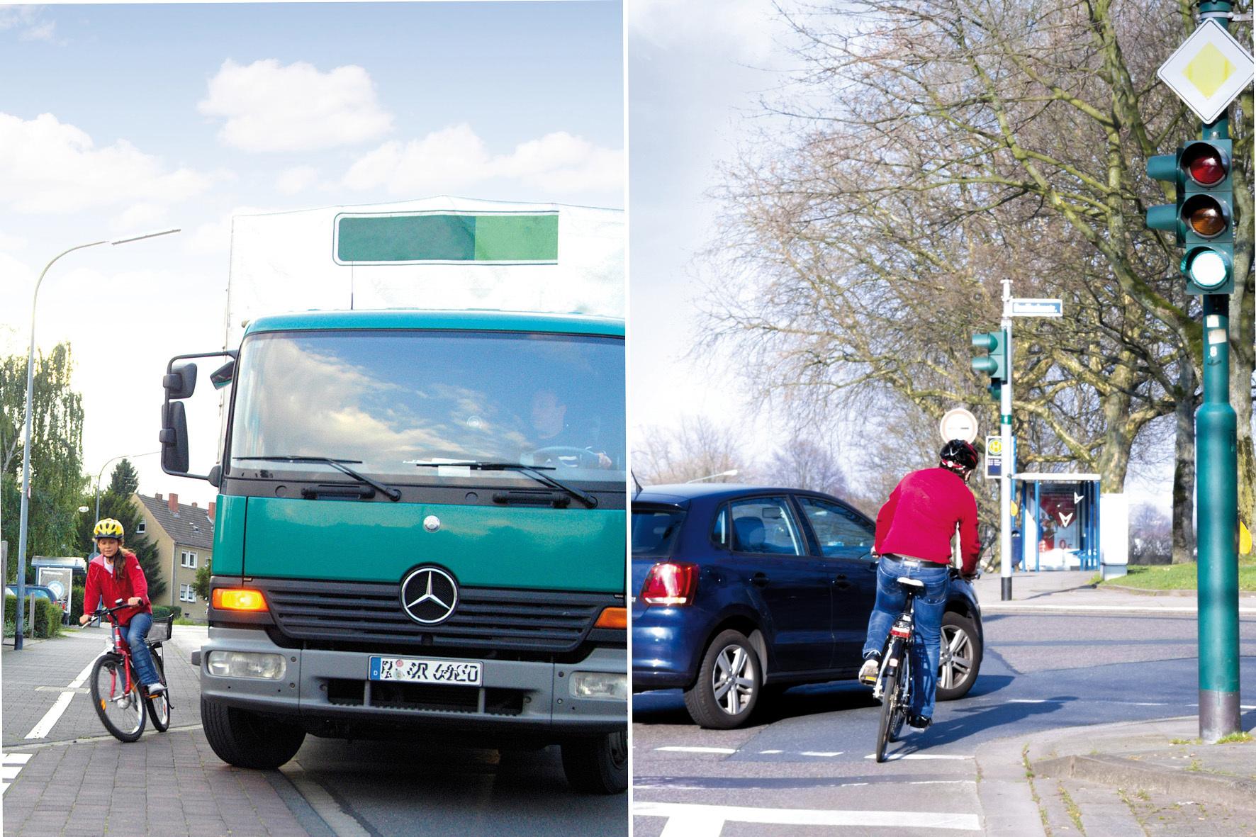 mid Düsseldorf - Im toten Winkel kommen vor allem Biker leicht unter die Räder.