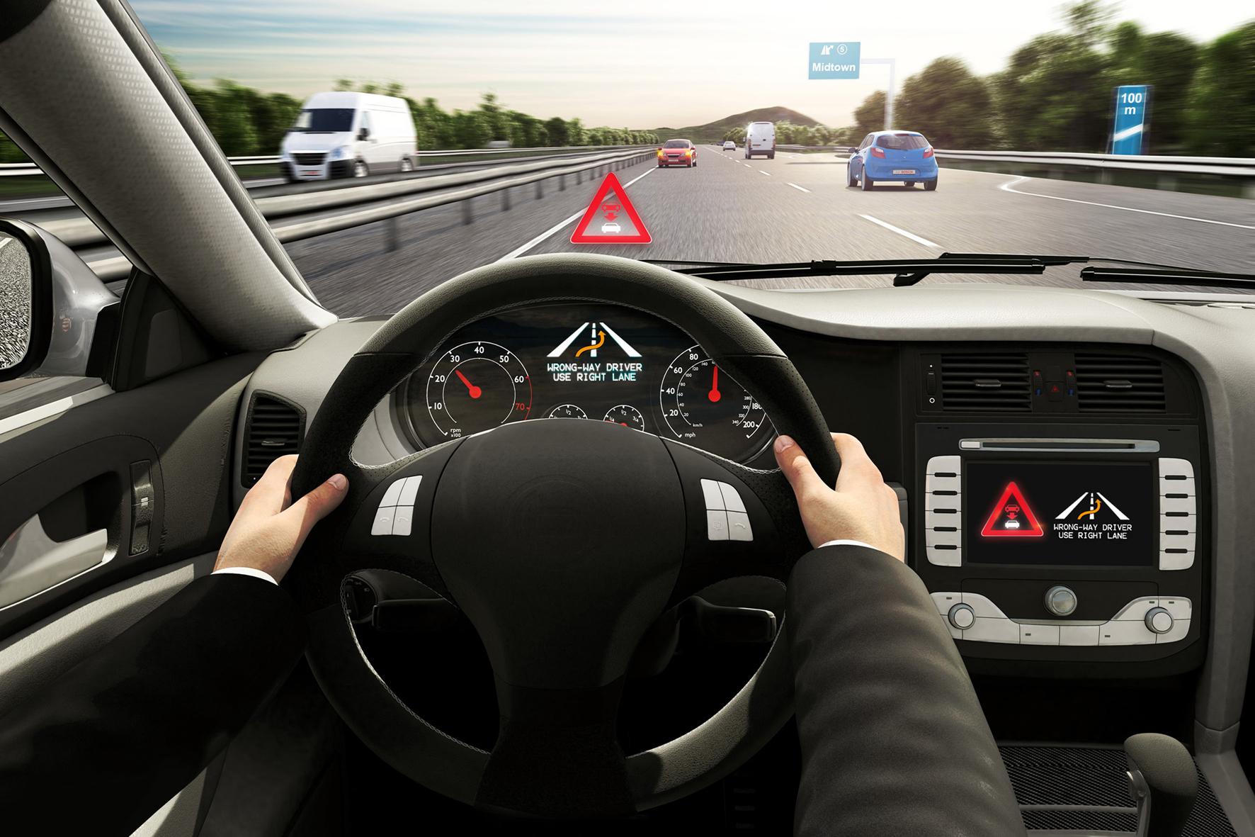 mid Düsseldorf - Bosch hat eine cloudbasierte Falschfahrer-Warnung entwickelt, die Geisterfahrer schnell erkennt und die anderen Autofahrer rechtzeitig warnt.