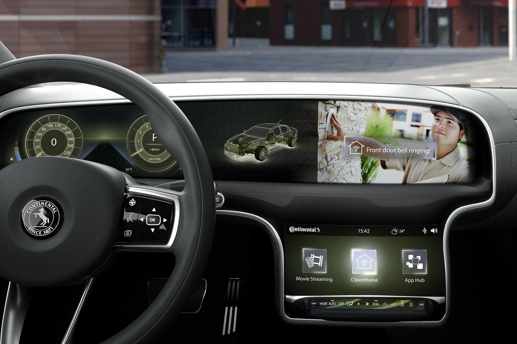 mid Düsseldorf - Die neue Daten- und Nutzerschnittstelle CarPort von Continental verbindet das Auto mit dem Zuhause.