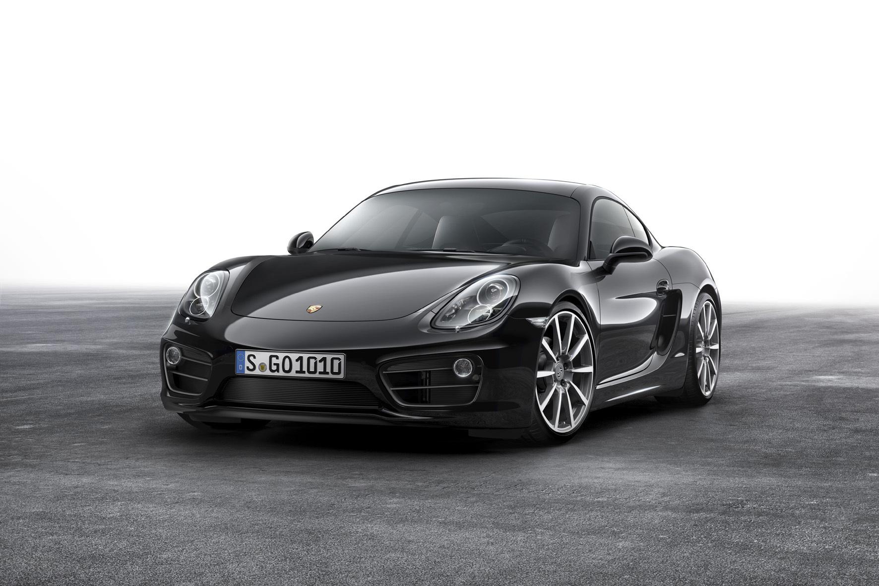 """mid Düsseldorf - Ganz in Schwarz und mit deutlich erweiterter Ausstattung: das Sondermodell """"Black Edition"""" des Porsche Cayman."""