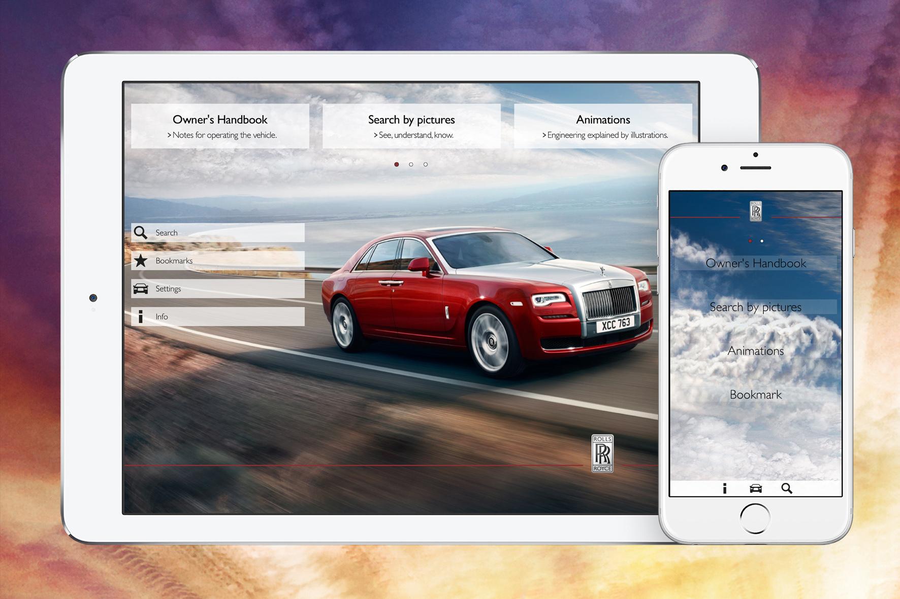 """mid Düsseldorf - Die neue App """"Rolls-Royce Mobile Owner's Manual"""" soll Kunden der britischen Nobelmarke im Umgang mit ihrem Fahrzeug unterstützen und schnelle Hilfe bieten."""