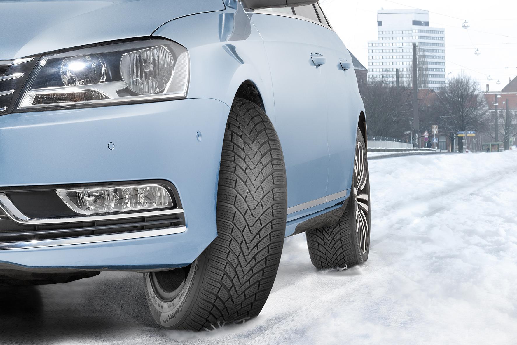 mid Köln - Ordentlich Grip: Die neue Winterreifen-Generation aus dem Hause Continental bietet noch mehr Halt auf verschneiten Straßen.