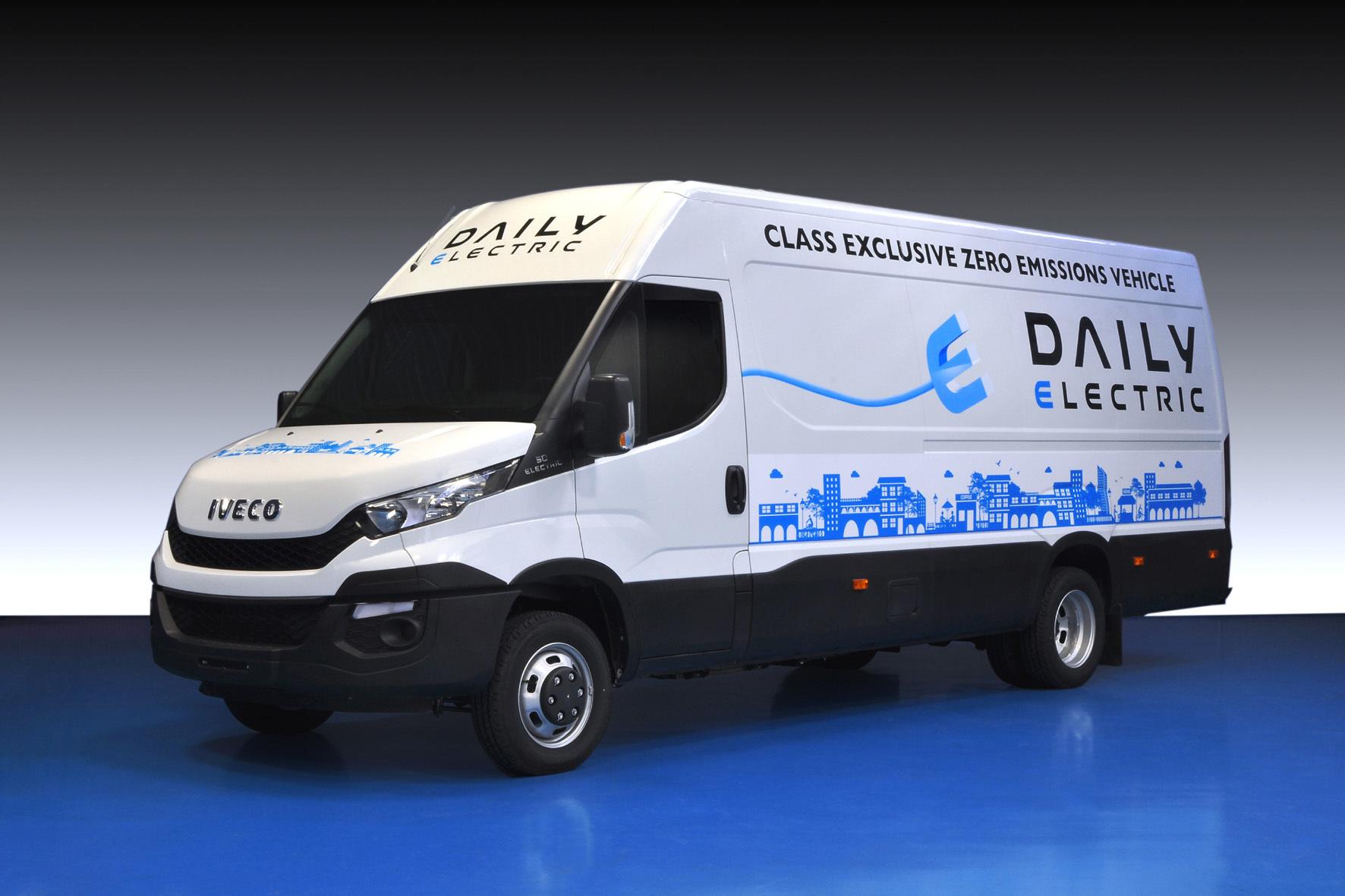 mid Düsseldorf - E-Mobilität auch bei großen Transportern: Der neue Iveco Daily Electric ist insbesondere für den innerstädtischen Lieferverkehr und Personentransport gedacht.