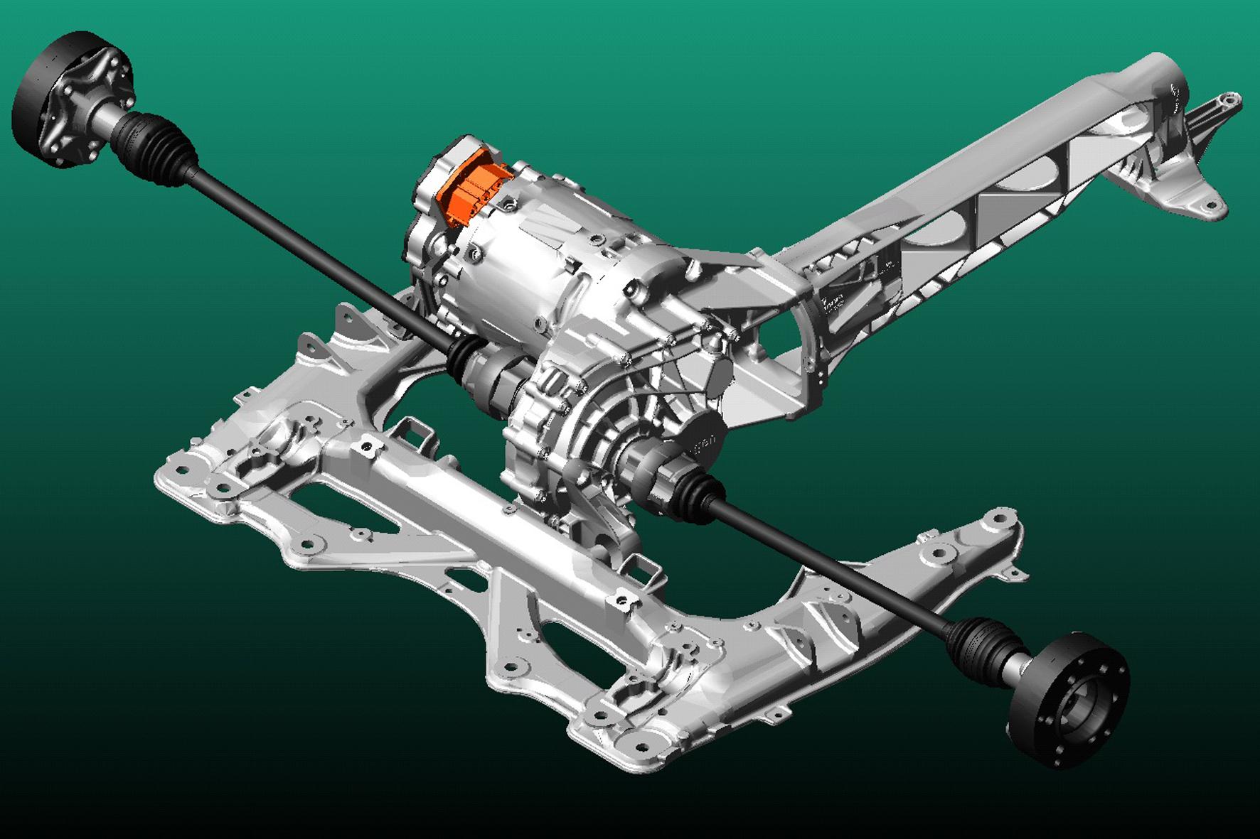 mid Düsseldorf - Zukunftsmusik: Mit dem Mehrkörper-Simulationsmodell eines elektrischen Antriebsstrangs können Erkenntnisse für die Fertigung einer neuen Elektrofahrzeug-Generation gewonnen werden.