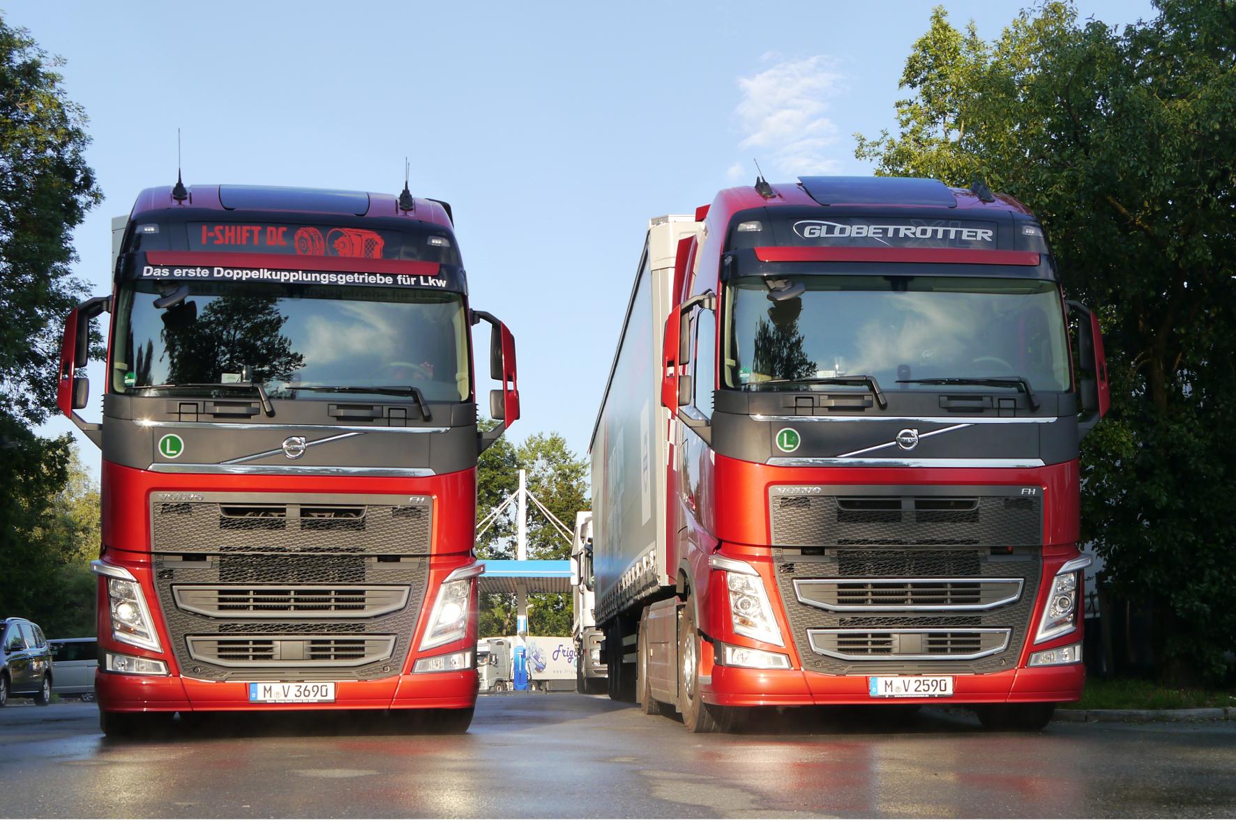 mid Groß-Gerau - Unterwegs mit neuer Lkw-Technik von Volvo: Testfahrt mit zwei Sattelzügen kreuz und quer über die Alpen.