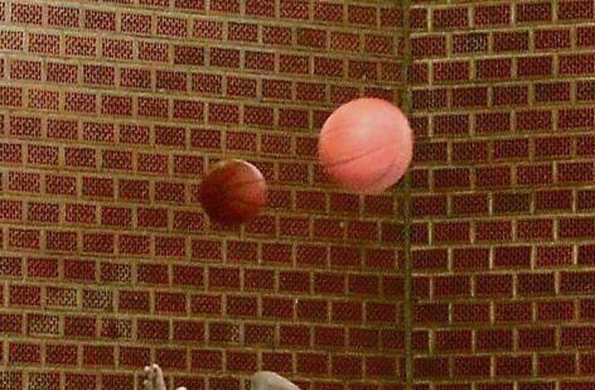 Wurftraining und Video-Analyse in der Waldsporthalle: Die australischen Junioren-Basketballer ...