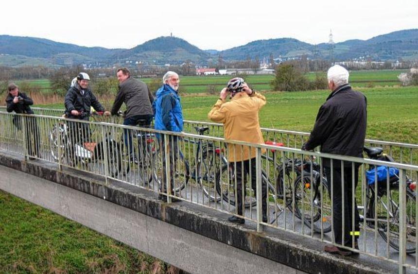 Nur einen Meter breit ist die Weschnitzbrücke zwischen Lorsch und Heppenheim - für viele Radfahrer ...
