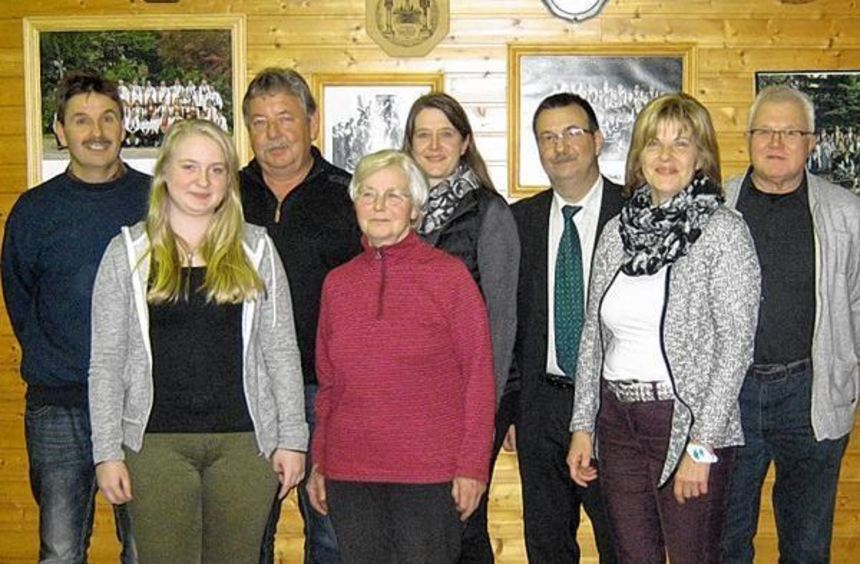 Erfolgreich verliefen dieses Mal die Vorstandswahlen beim Musikverein Schönfeld. Unser Bild zeigt ...
