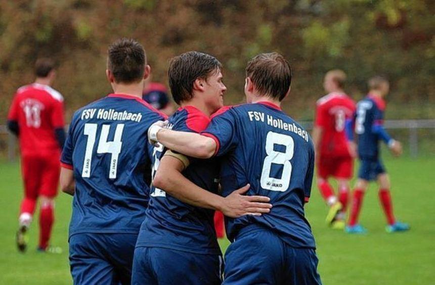 Der FSV Hollenbach II ist der Gewinner des Oster-Doppelspieltages und hat die Tabellenführung ...