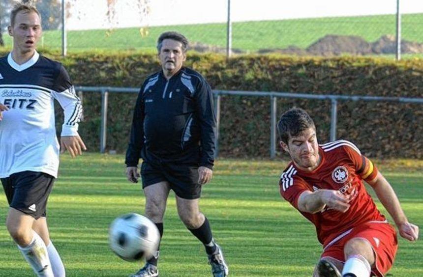 Hainstadts Spielführer Benjamin Schüssler darf sich mit seinem Team gegen Laudenberg solch einen ...