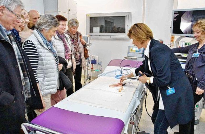 Beim Tag der offenen Tür am Kreiskrankenhaus in Heppenheim bestand für groß und klein die ...