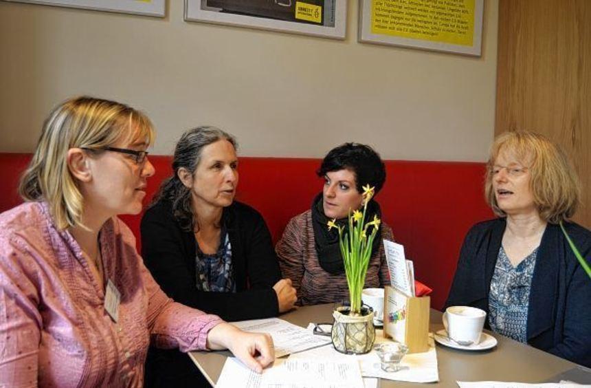 Ziehen eine durchweg positive Bilanz (v.l.): Kathleen Kampes, Franziska Mersi, Christine Vierling ...
