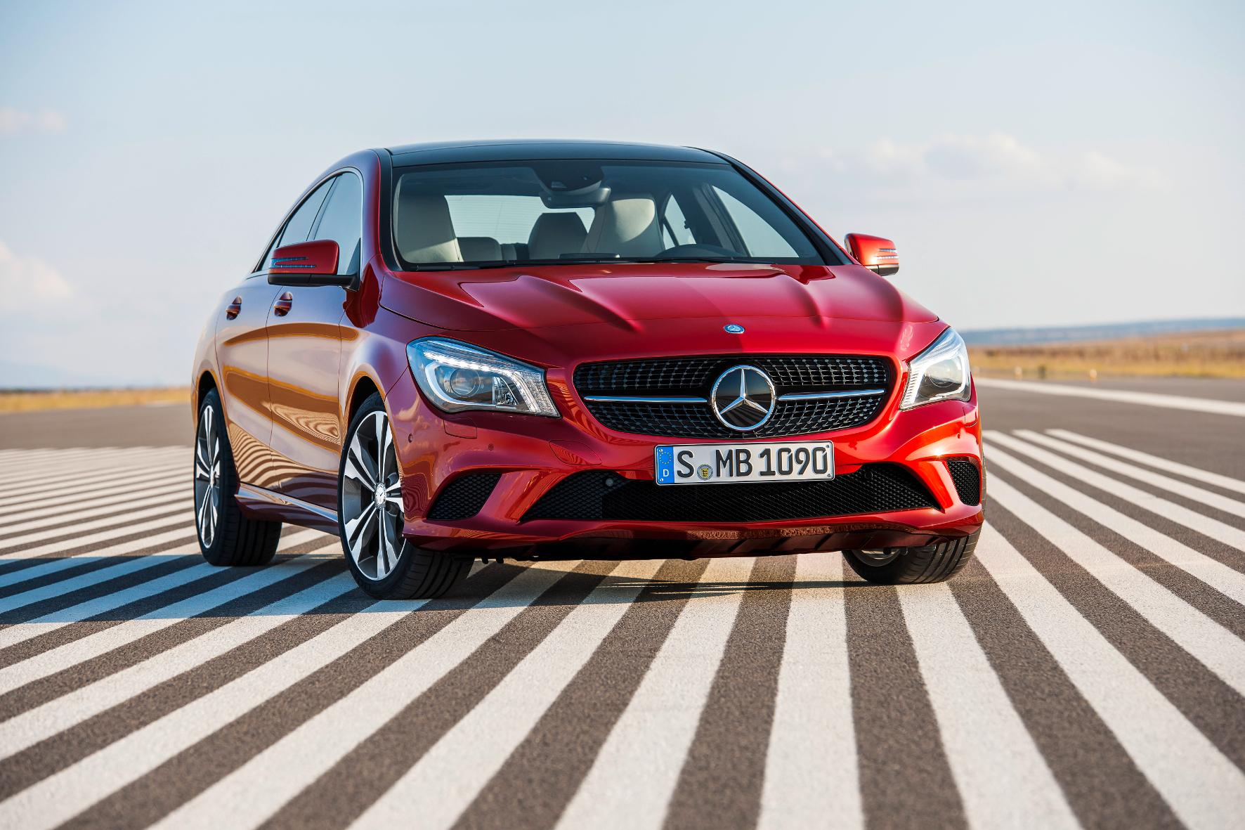 Aerodynamik-Künstler: Das CLA Coupé von Mercedes-Benz glänzt mit einem sehr niedrigen Luftwiderstandsbeiwert.
