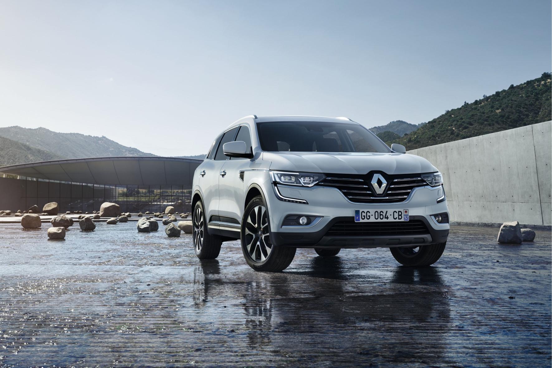 mid Groß-Gerau - Comeback für den Koleos: Die Frontpartie der Neuauflage des großen SUV von Renault ähnelt sehr der Mittelklasse-Limousine Talisman.