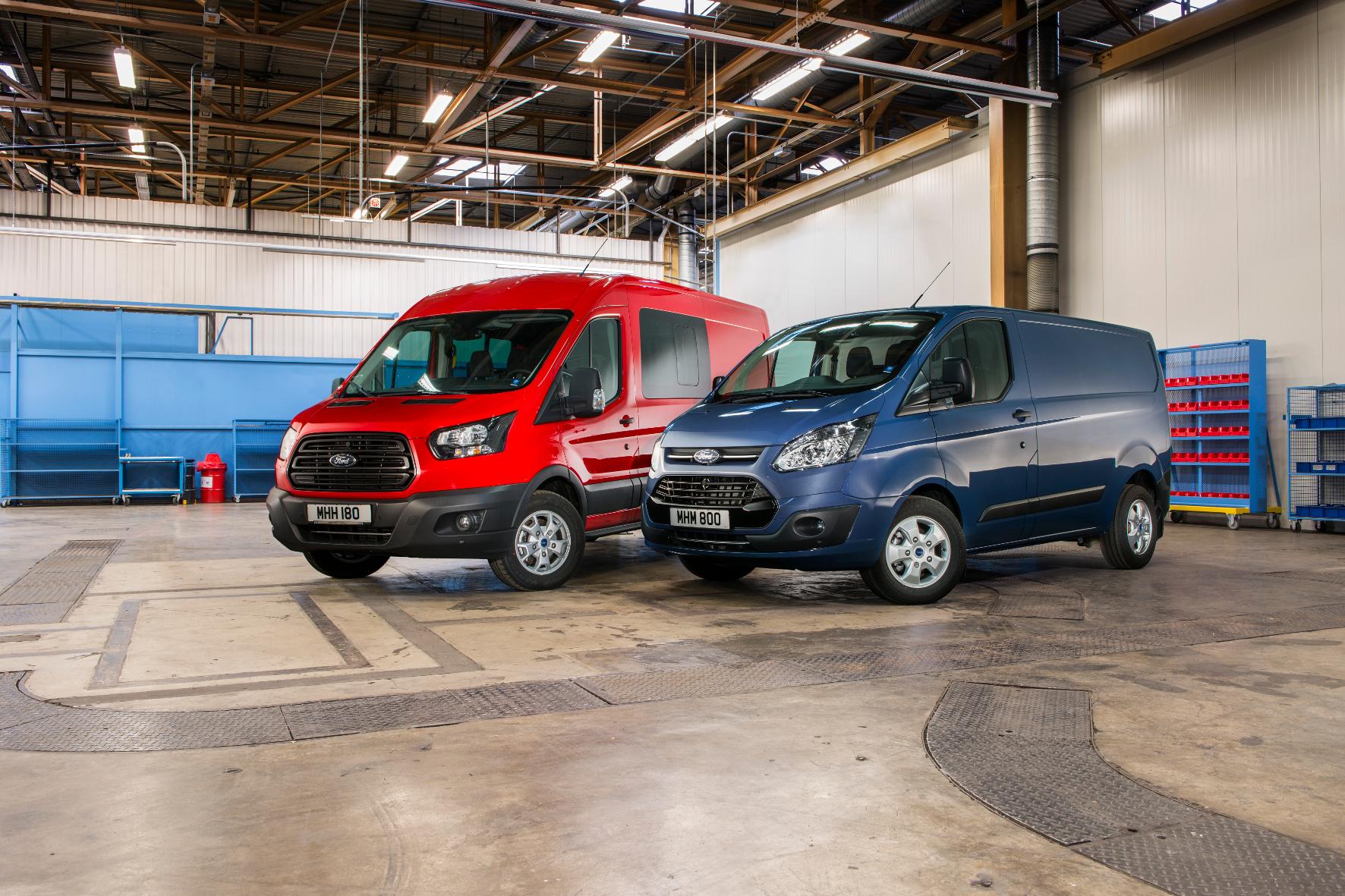 mid Groß-Gerau - Ford stattet seine Nutzfahrzeug-Baureihen Transit und Transit Custom mit einer neuen Generation Dieselmotoren aus.
