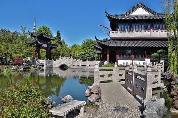 Im Chinesischen Garten Mit Seinem Teehaus Startet Der Kultursommer   Und  Zum Jubiläum Am 11. September Steigt Ein Großes Fest.