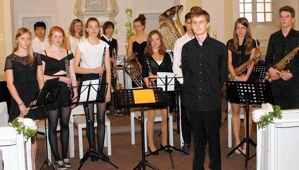 Beim Preistrgerkonzert In Der Kleinen Kirche Marktplatz Karlsruhe Musikprofilkurs Mit