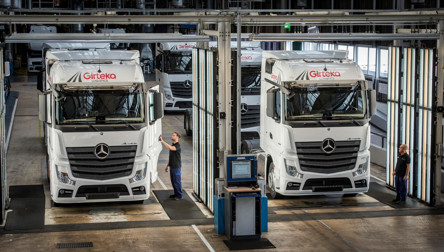 mid Groß-Gerau - Die neueste Generation des Actros läuft im Mercedes-Benz-Werk Wörth seit 2011 vom Band.