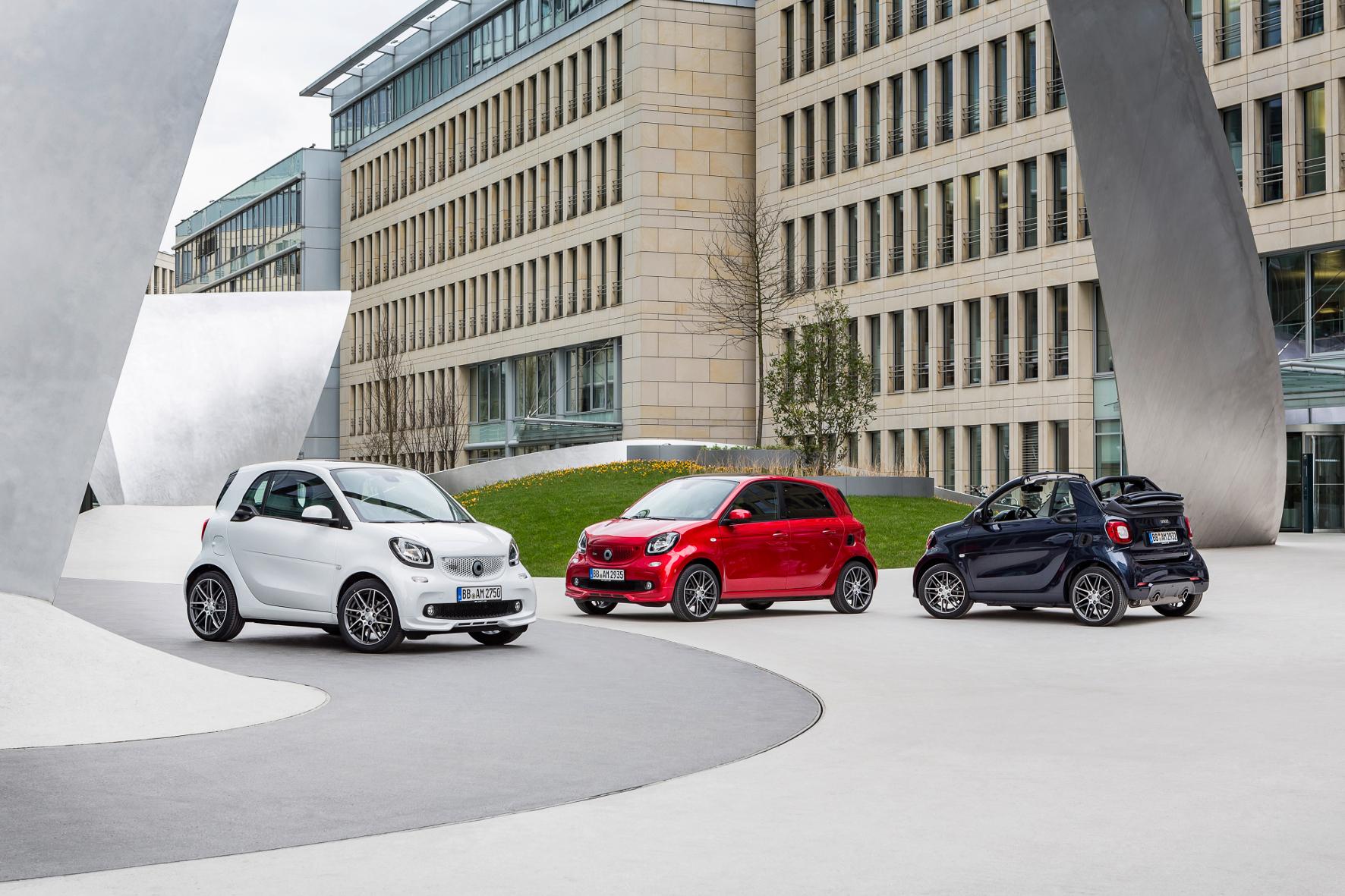 mid Groß-Gerau - Zwergen-Aufstand: Der neue Smart Brabus ist da. Mit 109 PS und 170 Nm hat der Kleinwagen über 20 Prozent mehr Leistung und über 25 Prozent mehr maximales Drehmoment als das bisher sportlichste Modell der Baureihe.