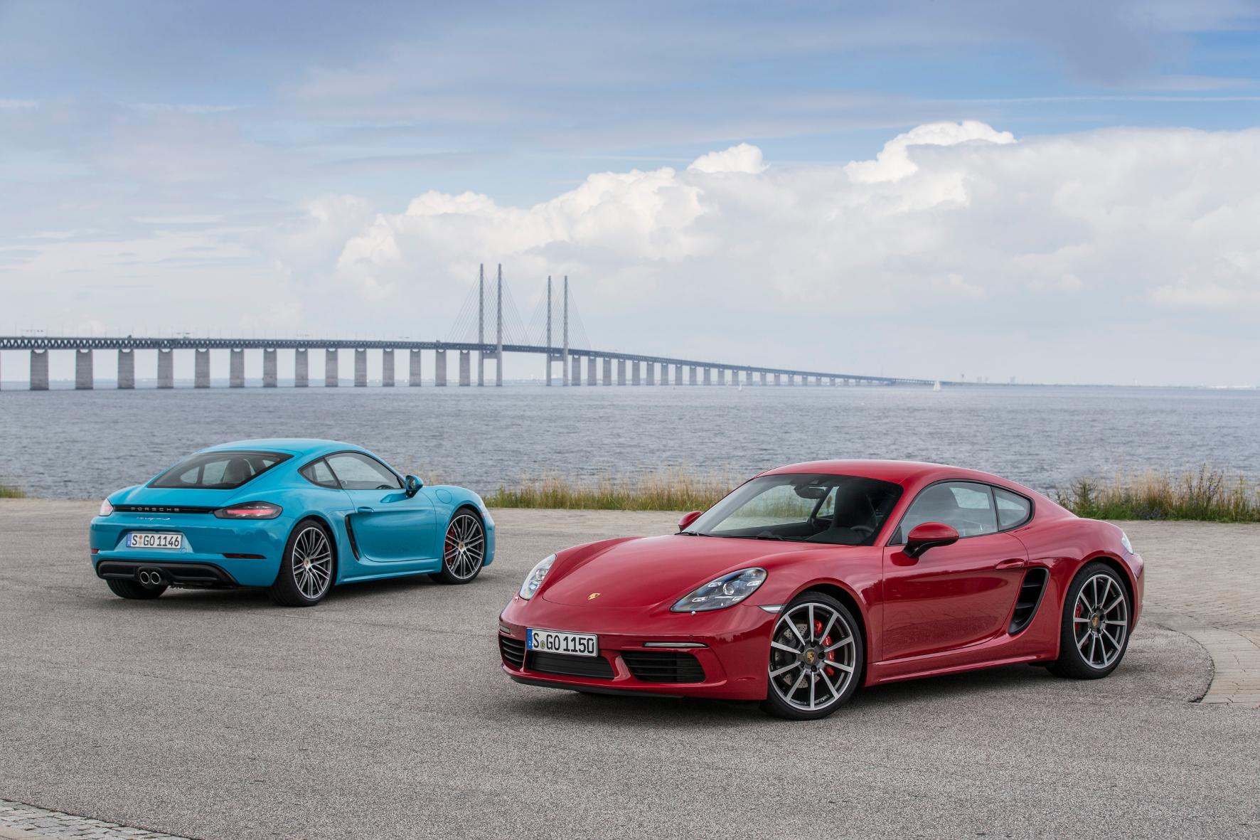 mid Malmö/Schweden - Porsche komplettiert seine Mittelmotor-Familie mit dem neuen 718 Cayman.