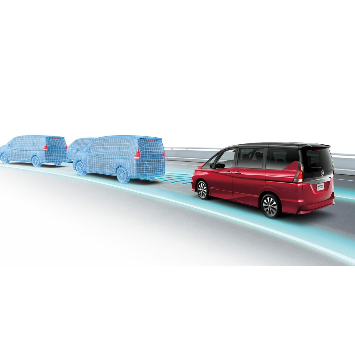 """mid Groß-Gerau - Autonom über die Autobahn: Im neuen Serena debütiert Nissans """"Autopilot light"""", der nicht nur automatisch beschleunigt und bremst, sondern auch lenkt."""