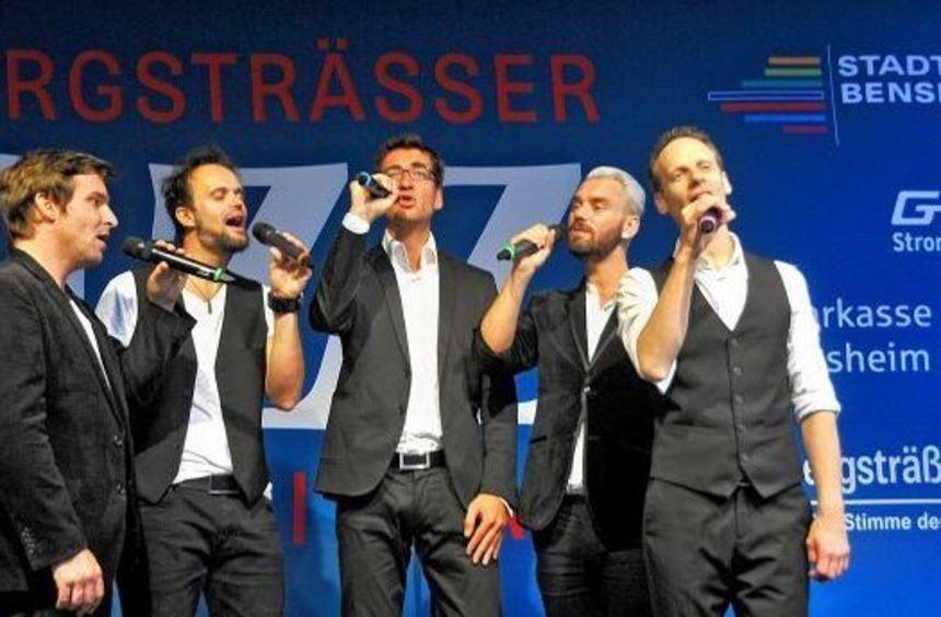 """Die A-cappella-Gruppe Vocaldente kam als Höhepunkt von """"Jazz von 10 bis Zehn"""" am Abend ganz ohne ..."""