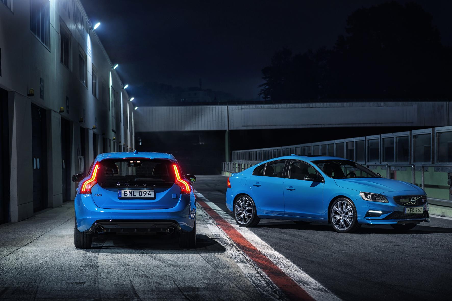 mid Groß-Gerau: Flottes Schweden-Duo: die Polestar-Varianten der Volvo-Modelle S60 und V60.
