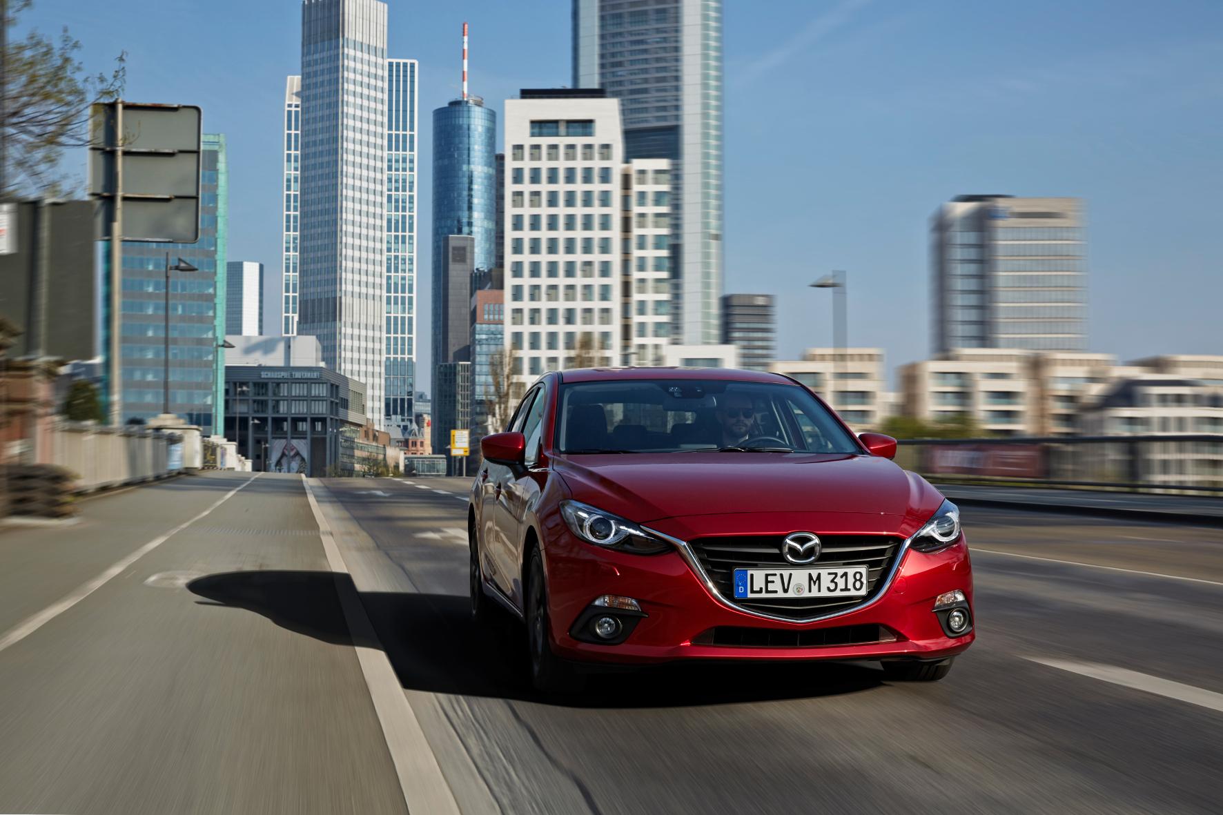 mid Groß-Gerau - Rassige Optik gepaart mit praktischen Talenten: der Mazda3 Nakama.