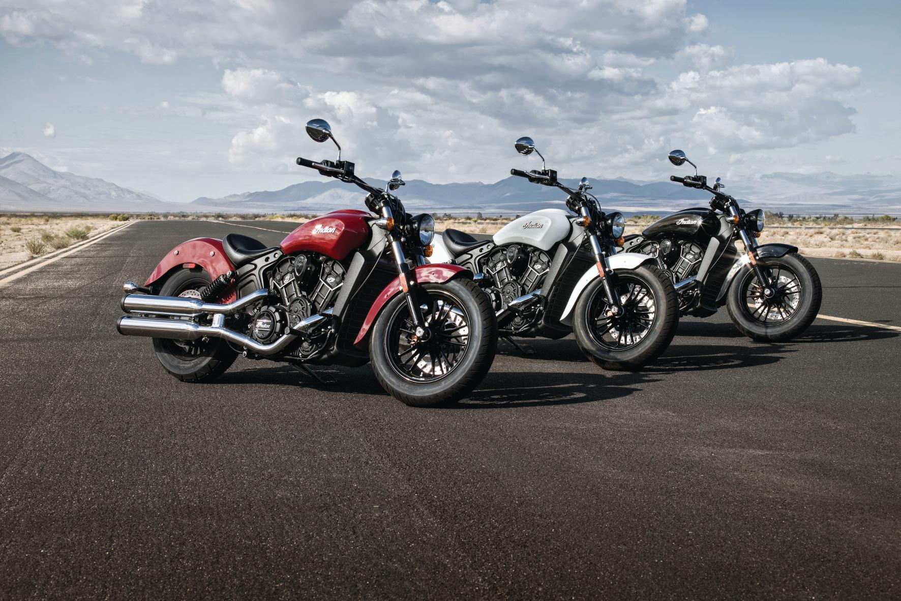 mid Groß-Gerau - Die Indian Scout Sixty ist in drei klassischen Farben zu haben: schwarz (Thunder Black), weiß (Pearl White) und rot (Indian Motorcycle Red).