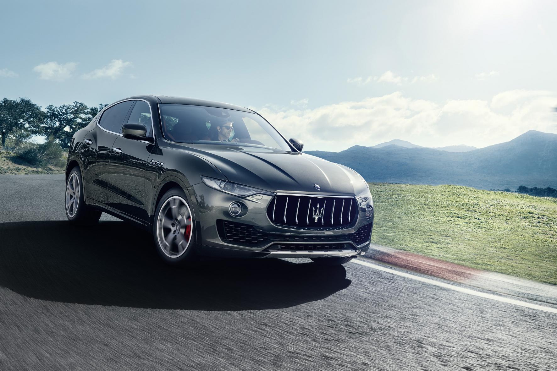 mid Frankfurt am Main - Aussagekräftige Formen: Der Levante ist auf Anhieb als Maserati zu erkennen.