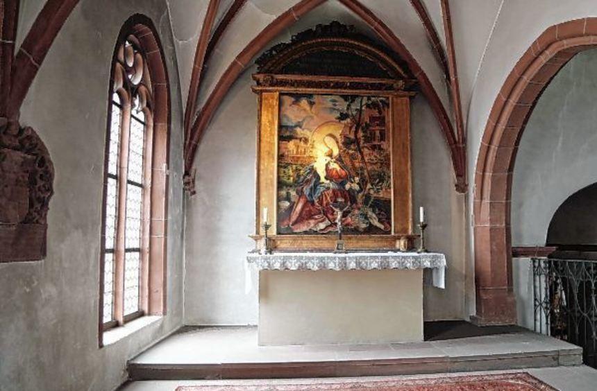 """Die Kopie der """"Stuppacher Madonna"""" ist auch heute noch Mittelpunkt der Maria Schnee-Kapelle in der ..."""