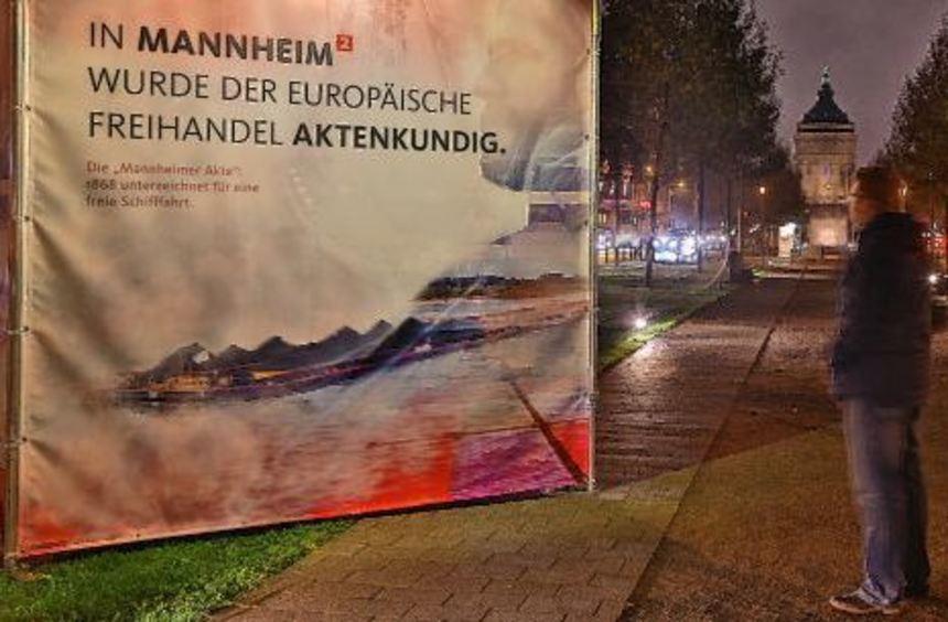 """""""Allee der Innovationen"""": Die Hommage an die Mannheimer Akte von 1868 ist eine von 18 ausgestellten ..."""