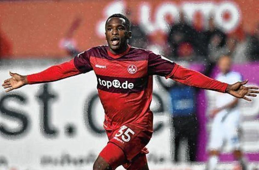Osayamen Osawe gelangen drei Treffer für Kaiserslautern.