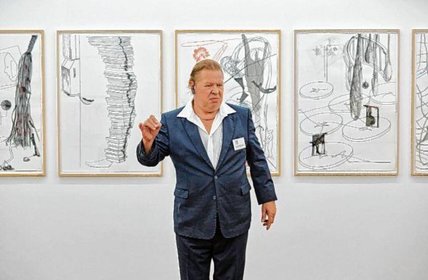 Schauspieler Gerhard Polacek (Württembergische Landesbühne Esslingen) als Museumswärter Dave in ...
