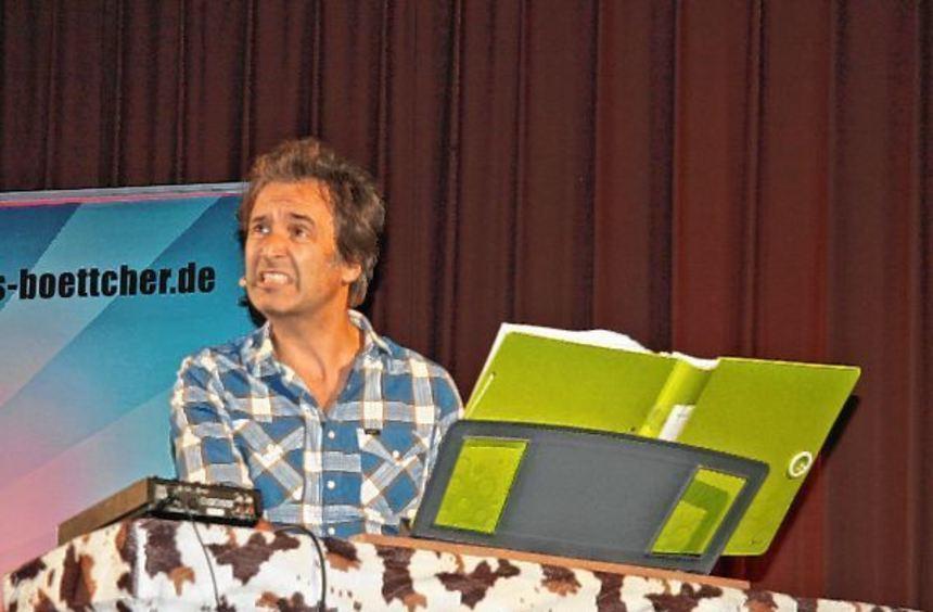 Chris Boettcher präsentierte sich charmant, witzig und äußerst unterhaltsam in der Laudenbacher ...