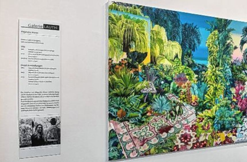 Die Gemälde von Alejandra Atarés Abad sprühen vor Farbigkeit.